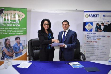 UNICIT firma convenio con MICREDITO