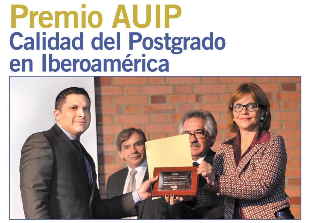 Premio AUIP – Calidad del Posgrado en Iberoamerica